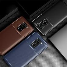 Carbon Fiber Case For Xiaomi Redmi 10X Note 9S 9 Pro Max Cover Soft Protective Phone Bumper For Xiaomi Redmi 10X Pro Note 9 Case недорого