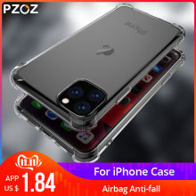 Étui pour iphone en Silicone souple PZOZ 11 Pro étui de Protection Ultra mince Transparent en étui de Protection(China)