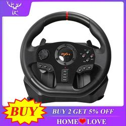 PXN V900 الألعاب عجلة القيادة 900 درجة تحكم غمبد سباق لعبة فيديو الاهتزاز ل PC/PS3/4/Xbox-One/Xbox 360/N-سويتك