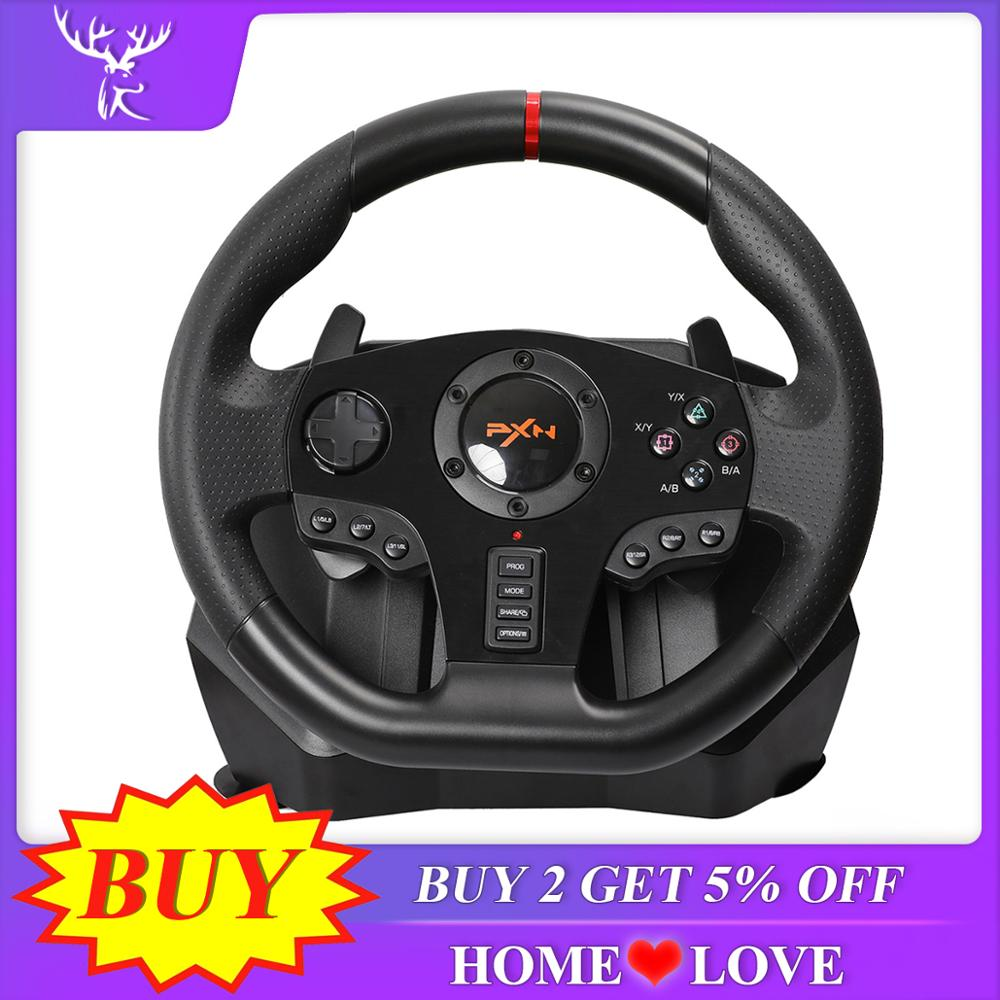PXN V900 Gaming Steering Wheel 900 Degree Gamepad Controller Racing Video Game Vibration For PC PS3