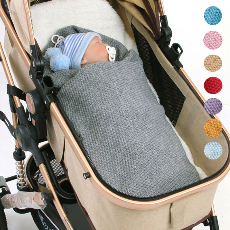 Newborn Baby Warm Knit Crochet Swaddle Babies Stroller Satefy Wrap Swaddling Blanket Sleep Bag Wrapping