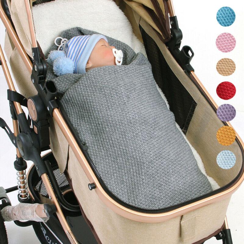 Newborn Baby Warm Knit Crochet Swaddle Babies Stroller Satefy Wrap Swaddling Blanket Sleep Bag Wrapping