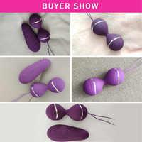 Sex Produkte Sex Spielzeug Neue silikon Kegel Kugeln Vaginal Enge übung vibrierende eier fernbedienung Geisha Ball ben Wa Balls