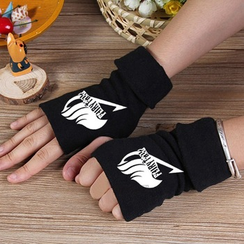 Anime Fairy Tail Guild Logo Fingerless Gloves Mitten Manga Cosplay Costume Gifts