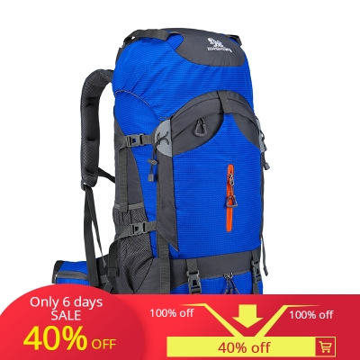 New outdoor mountaineering bag large capacity backpack 60L men and women leisure travel