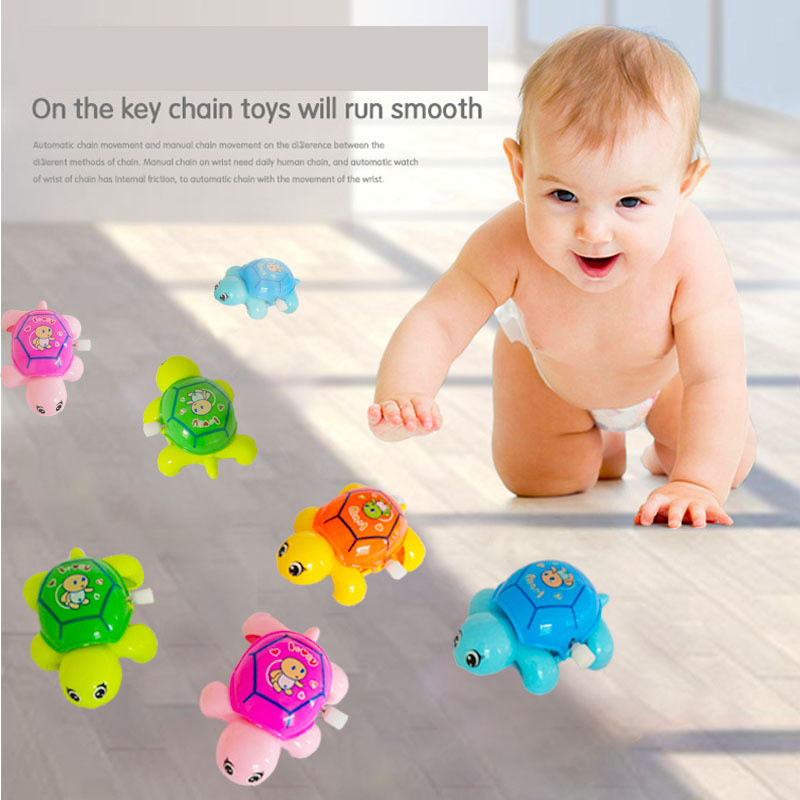 Learn To Climb  Little Turtle Super Cute Winding Spring Little Turtle Will Shake Head And WAG Tail  Baby Toys Hot Selling