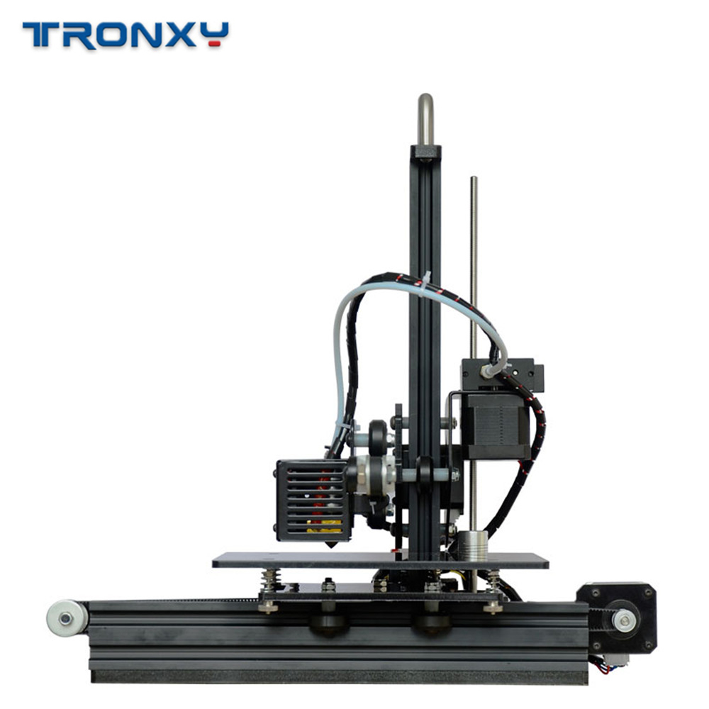 cheapest Tronxy X1 3D Printer I3 Impresora Pulley Version Linear Guide Imprimante LCD Display DIY High Precision Print Support Off-line