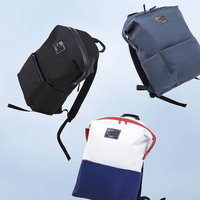 waterproof rain Xiaomi Casual Backpack Young Unsex Solid Anti-Rain Waterproof Polyester Backpacks Travel Bag Universal Bags College Laptop Bag (1)