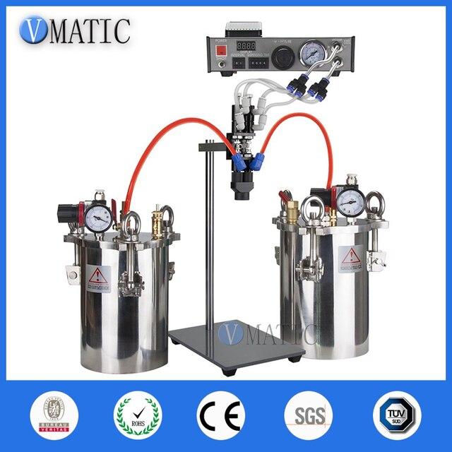 Free Shipping VMATIC Glue Dispensing Equipment Accurate Automatic Glue Machine With 2pcs 5L Pressure Tank Valve