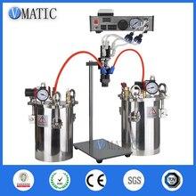 Ücretsiz kargo VMATIC tutkal dağıtım ekipmanları doğru otomatik tutkal makinesi ile 2 adet 5L basınç tankı vana