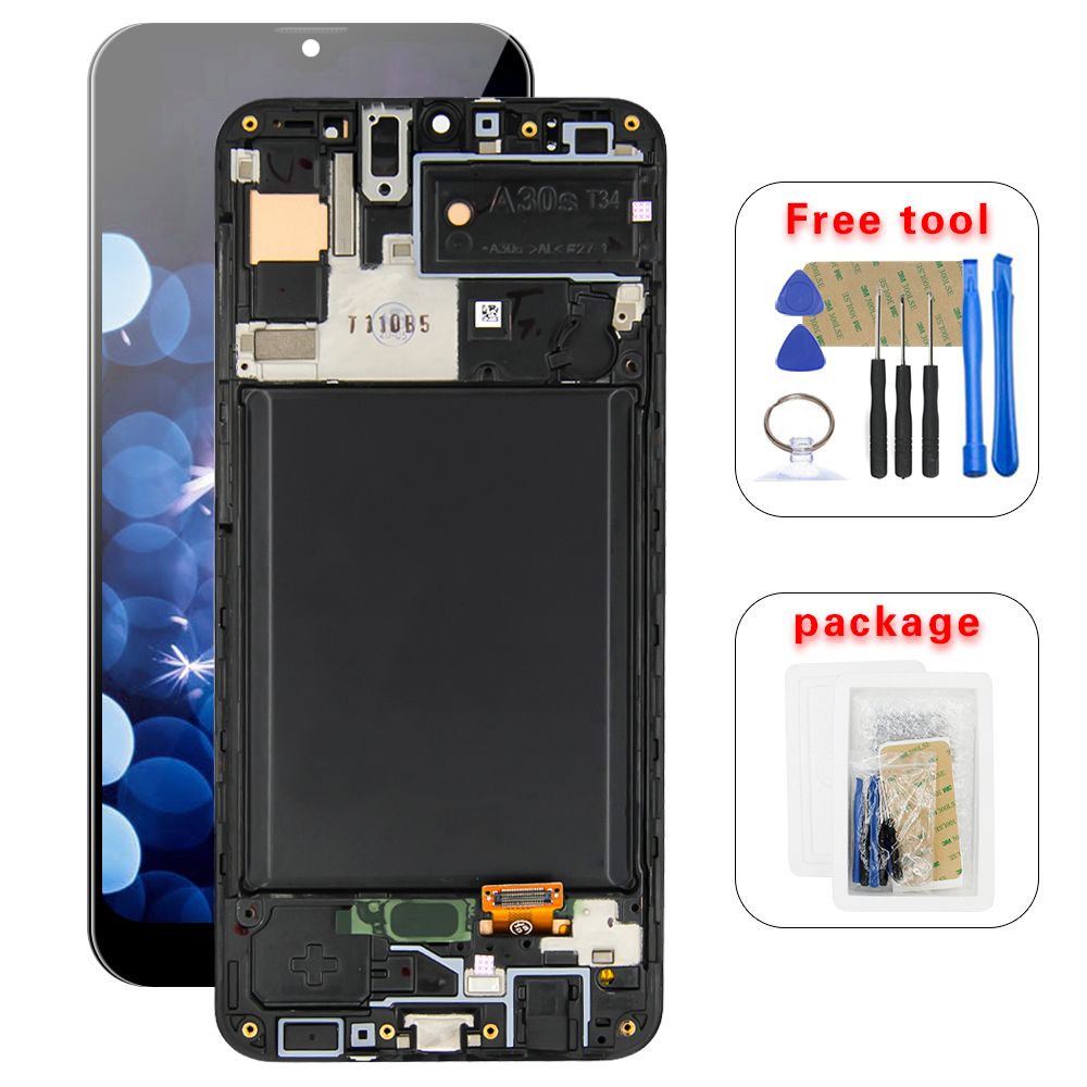 """6.4 """"For Samsung Galaxy A30S A307 SM A307FN A307F/DS A307F LCD Touch Screen Digitizer Glass Panel Assembly With Frame