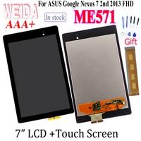 "Testado 7.0 ""asus google nexus 7 2nd 2013 fhd me571 lcd + montagem da tela de toque para me571k k008 me571kl painel toque digital|Painéis e LCDs p/ tablet| |  -"