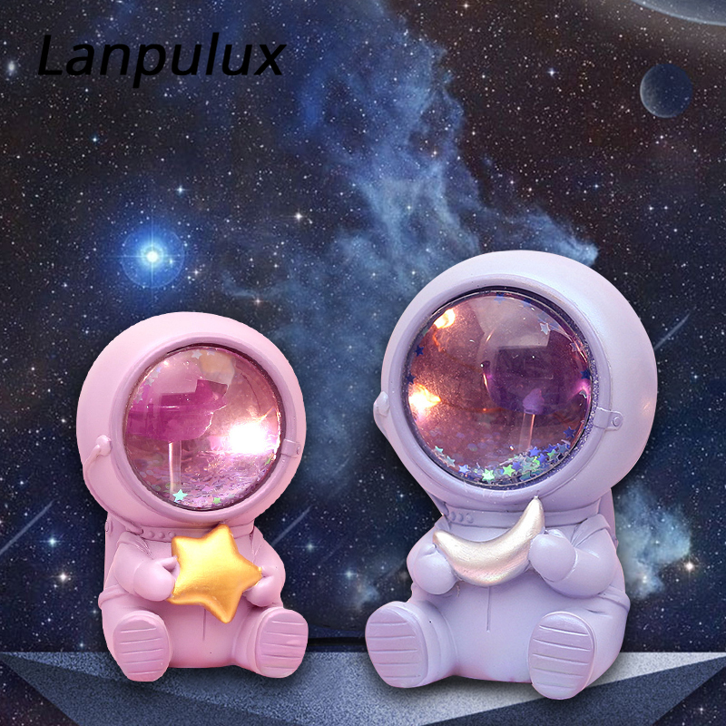 Lanpulux LED Astronaut Night Lights Moon Lamps Universe Astronaut Bedside Lamp Home Decorative Lighting Baby Kids Toys Boy Gifts