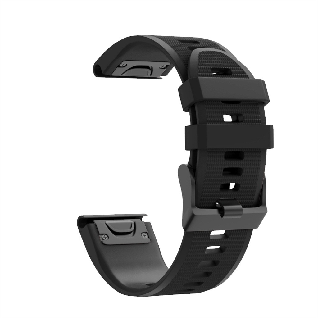 Watchbands 26mm Silicone Dark Brown Black Man Women Wrist Smart Watch Band Strap Plastic Buckle Smart Accessories #H10