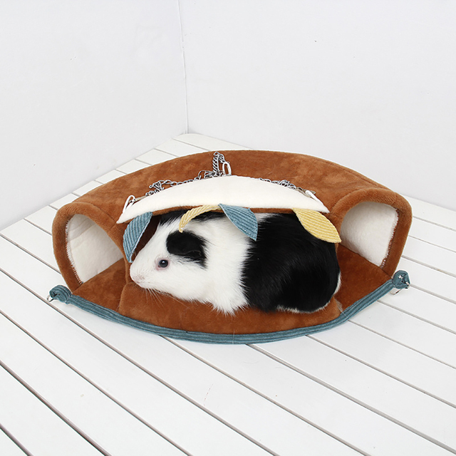 Small Pet Warm Tunnel Hammock Hanging Bed Ferret Rat Hamster Bird Squirrel Shed Cave Hut Hanging Cage Pet Birds Parrot Supplies 5