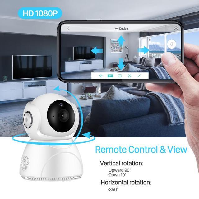 Caméra de surveillance IP WiFi hd 3MP (V380), dispositif de sécurité domestique sans fil, avec suivi ia, panoramique/inclinaison, Vision nocturne, Cloud P2P, application 3