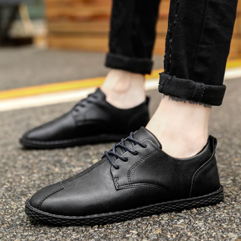 High Quality Men Casual Shoes Hot sale Fashion Spring Autumn Casual Shoes Men Business Solid Breathable Casual Men Shoes Black