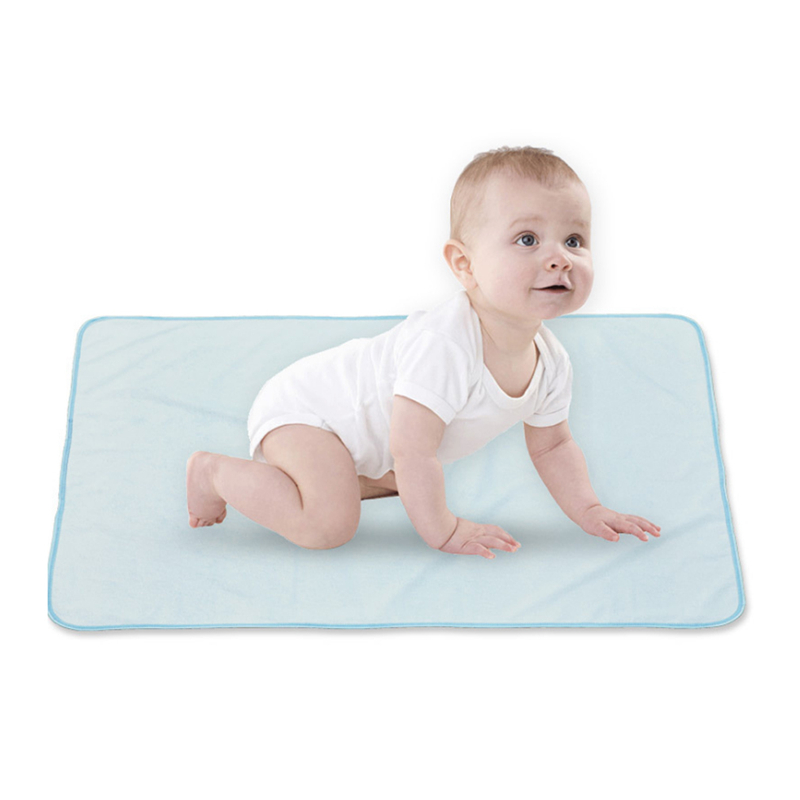 Breathable Bamboo Fiber Newborn Infant Baby Solid Color Bed Nappy Changing Sheet Mat Cover Urine Pad Mattress 61*47cm