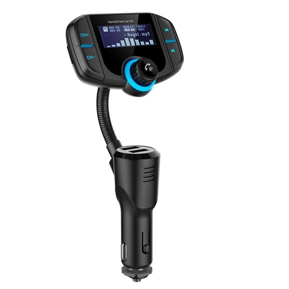 Двойной USB порт быстрой зарядки автомобиля BT MP3 плеер FM радио передатчик поддержка быстрой зарядки воспроизведения музыки Handfree вызов
