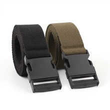 135X3.8Cm New Waist Adjustable Outdoor Nylon Belts Men Casual Style Belt Automatic Buckle Canvas For Women Male Unisex