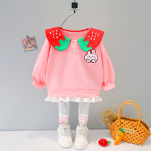 Baby Costume Hoodie Outfits Pants Girl-Sets Newborn Cotton Brand Cute Spring Two-Piece