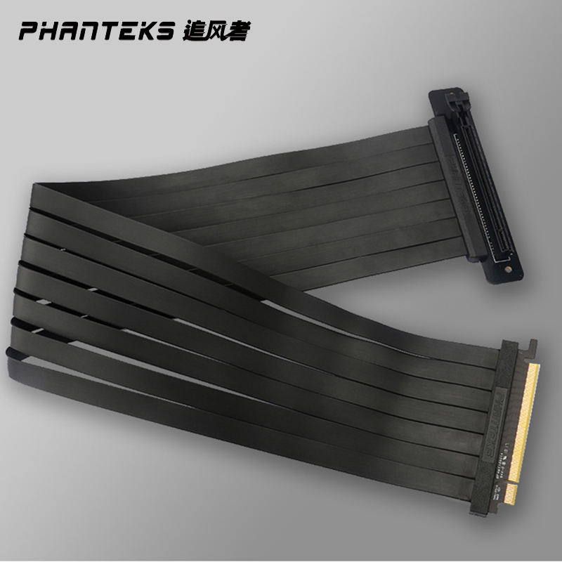 Phanteks PCI-E x16 Video Card Extension Cable, Vertically 180 ° To 90° 220MM,600MM Install Fit RTX2080Ti/2070 Anti Interference 2