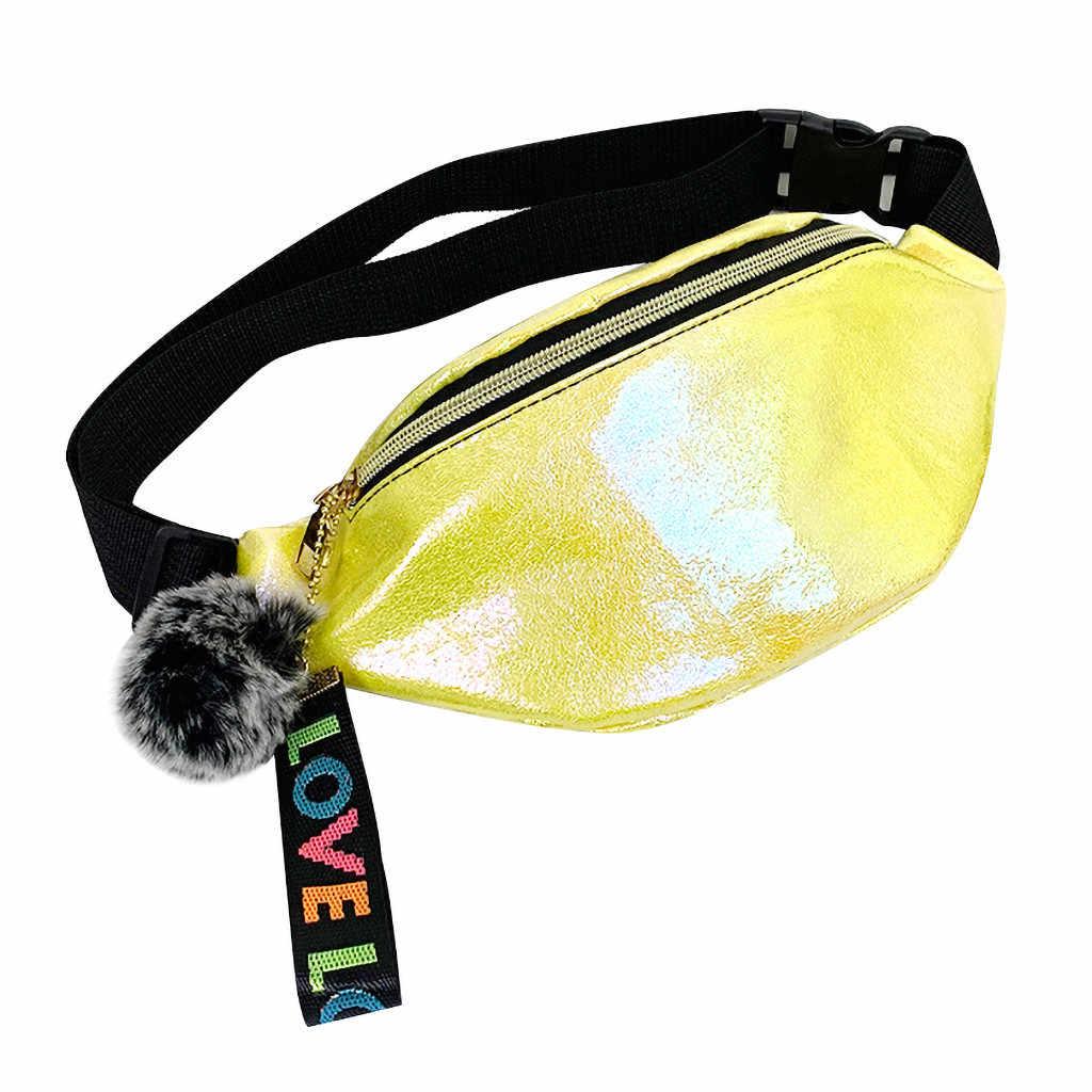 Las mujeres cintura Pack Fanny Paquete de moda de cuero de cintura cinturón de hombro bolsa salvaje estéreo bolso de las señoras