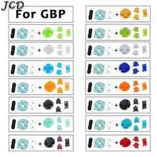 Jcd para nintendo gameboy bolso de borracha botões condutores a b botões teclados para gbp d almofadas power on fora botões