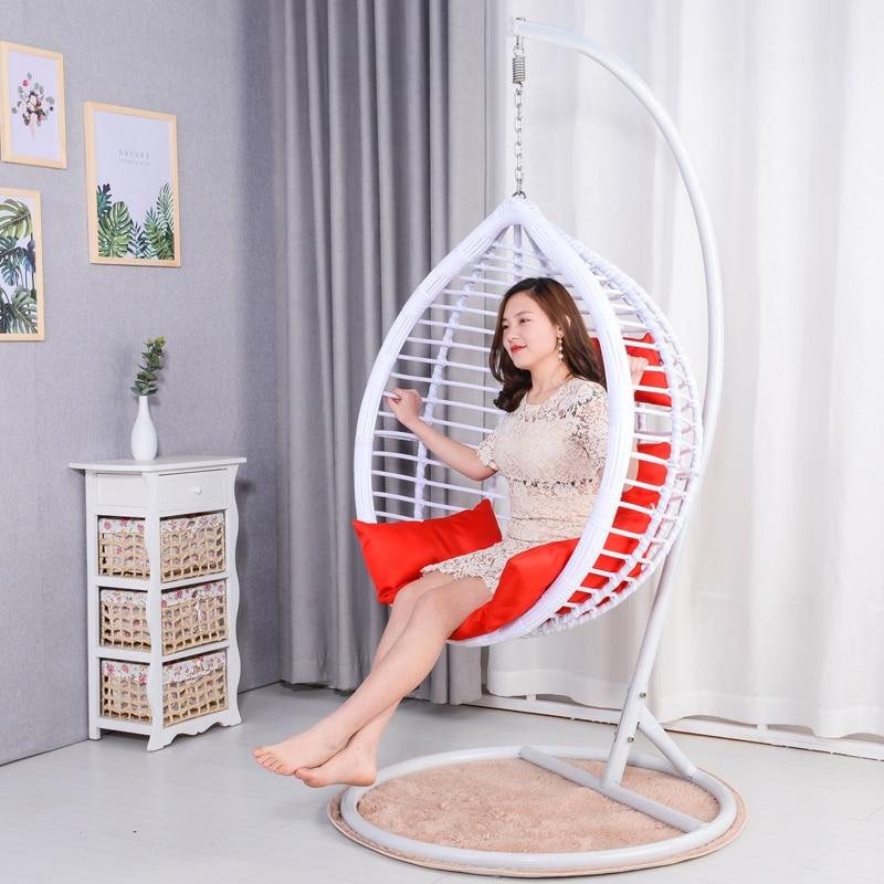 Hanging Chair Double Hanging Basket Rattan Chair Living Room Hammock Swing