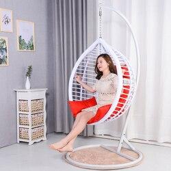 Wiszące krzesło podwójne zawieszenie kosz krzesło rattanowe salon hamak huśtawka na