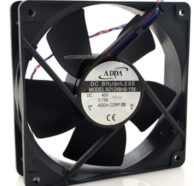 Free Shipping AD1248HB-Y56 40V 0.13A 12CM 120*120*32 Three Line Dual Ball Cooling Fan