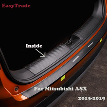 Car Rear Door Sill Plate Protector Anti-Scuff Trunk Inside door sill sticker For Mitsubishi ASX 2018 2017 2016 2015 Accessories накладка заднего бампера mitsubishi mz576692ex для mitsubishi asx 2016