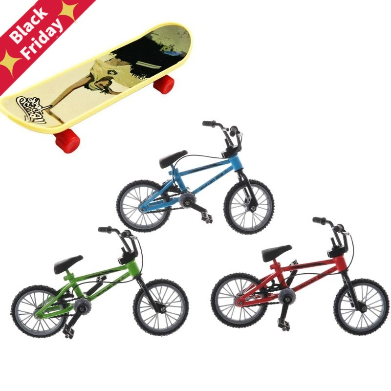 Mountain Bike Fixie Bicycle Skateboard Toy Mini Fuctional Finger BMX Toys Creative Game Workmanship Toy Gift New Random Color