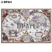 Diamond Painting 5D Full Square/Round Drill Map Daimond Embroidery Painting Cross Stitch Mosaic Crystal Picture Wall Art M872
