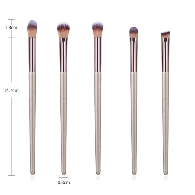 10pcs Champagne Makeup Brushes Set Foundation Powder Blush Eyeshadow Concealer Lip Eye Make Up Brush Cosmetics For Make Up Tools 2
