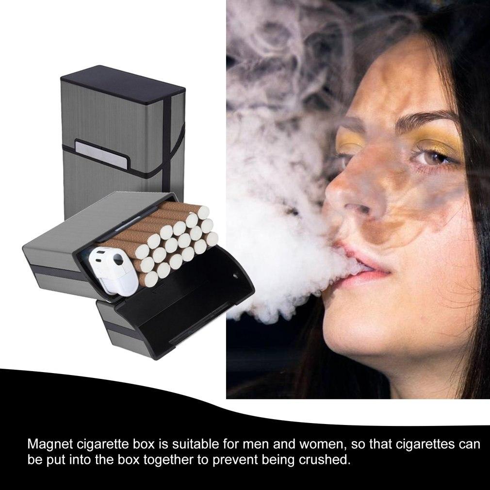 Magnetic Cigarettes Aluminum Cigarette Case Cigar Tobacco Holder Pocket Box Storage Container Gift Box