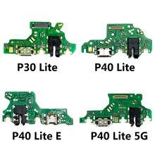 10 PIÈCES De Chargement USB Port Dock Connecteur De Câble Flexible Avec Microphone Pour Huawei P9 P30 P20 Pro P40 Lite 5G P30 P40 Pro Plus