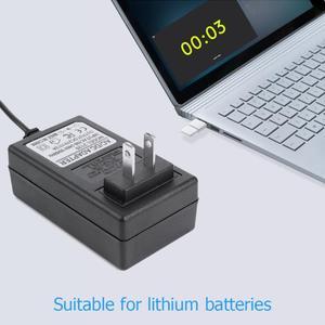 Image 5 - 21V 2A 18650 chargeur de batterie au Lithium DC 5.5x2.5mm prise adaptateur secteur chargeur pour 18490 14650 14514430 batterie