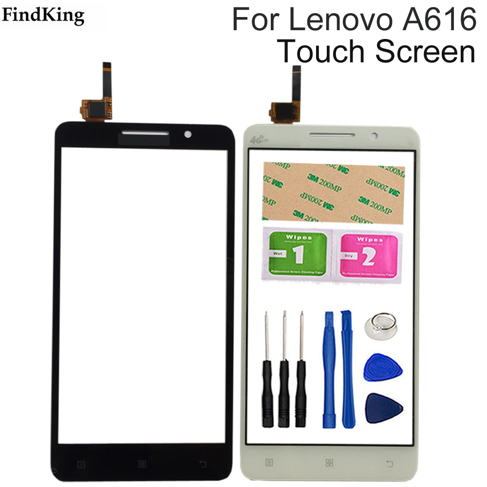 Mobile Phone Touch Screen Glass For <font><b>Lenovo</b></font> <font><b>A616</b></font> Digitizer Panel Lens Sensor Flex Cable Tools Adhesive image