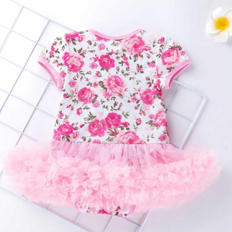 Кружевное платье-пачка для маленьких девочек на 1 день рождения комплект детской праздничной одежды, камуфляжный комбинезон + повязка на голову + Обувь Летний комбинезон для новорожденных