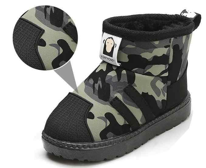 2019 Orangemom marca invierno botas de nieve niño nueva moda impermeable Niña niños zapatos de fondo suave para niños botas