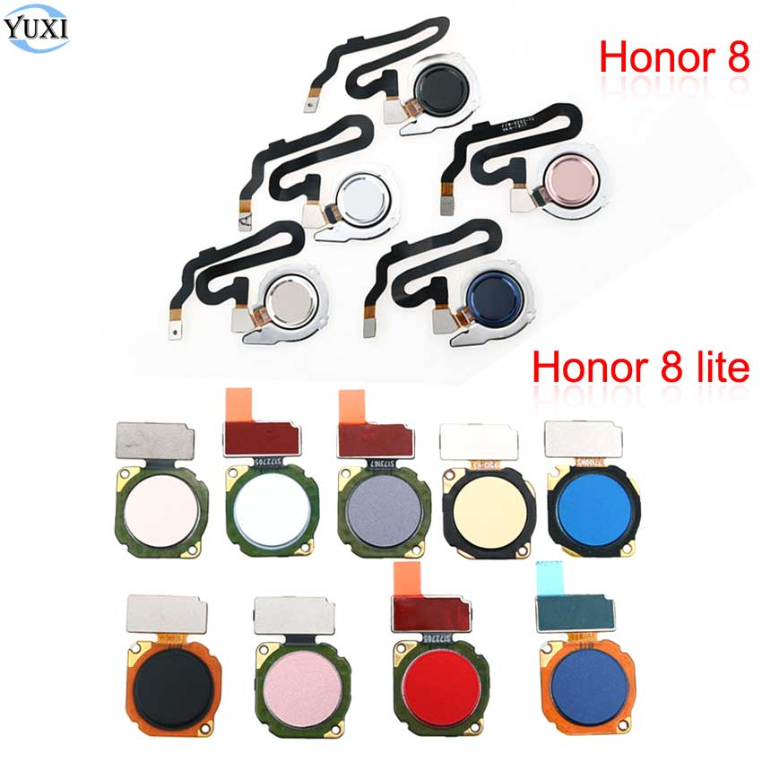 YuXi For Huawei Honor 8 8 Lite Fingerprint Sensor Scanner Touch ID Home Button Flex Cable For Huawei P8 Lite P9 Lite 2017