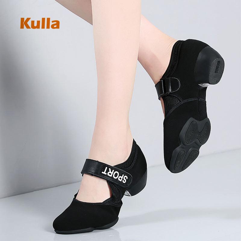 Women Jazz Shoes Latin Dancing Shoes Ballroom Spring Autumn Woman's Modern Square Shoes For Ladies Female Salsa Tango Dance Shoe