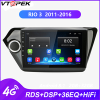 Vtopek Android Car Stereo GPS radio Car DVD player Android radio for KIA RIO 3 2011 2016 FM AM 4G network WIFI RDS DSP HIFI