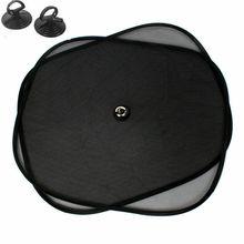 2 pièces/ensemble 44*37cm noir voiture pare soleil côté arrière voiture fenêtre pare soleil housse protection solaire auto accessoires parasole auto parasol coche
