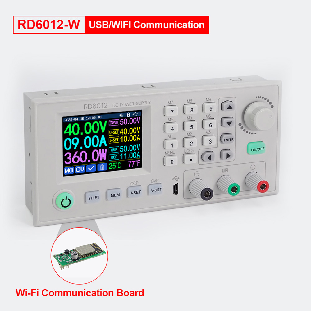 RD RD6012 RD6012W USB WiFi DC - DC Voltage Current Step - Down Power Supply Module Buck Voltage Converter Voltmeter 12A