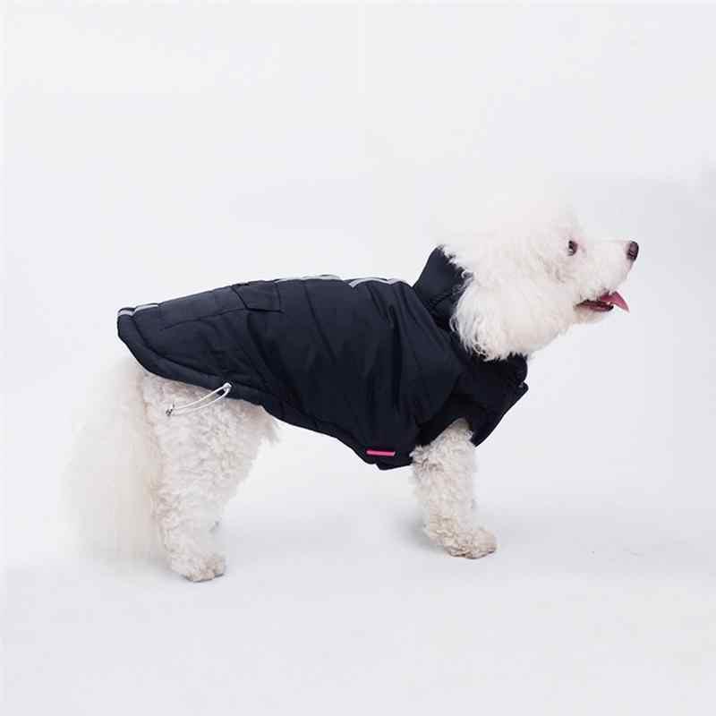 1 Pc חיות מחמד כלב להתחמם כותנה אפוד זוהר בחושך כלב מעיל רך כלב מעיל חיצוני ספורט לחיות מחמד אפוד חליפת שלג ביגוד לחיות מחמד כלב
