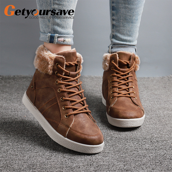 Marten Boots For Women Ladies Genuine Leather Ankle Shoes Winter Fur Lining Female Motorcycle