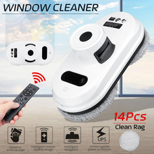 Window-Cleaning-Robot Vacuum-Cleaner Remote-Control Electric with 14-Cloths Magnetic-Brush