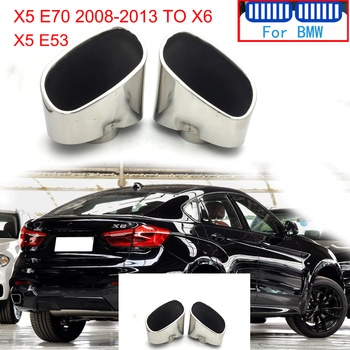 High Quality Stainless Steel For BMW X5 E53 E70 To X6 2008 2009 2010 2011 2012 2013 Car Rear Exhaust Muffler Tip Tail Pipe Cover image